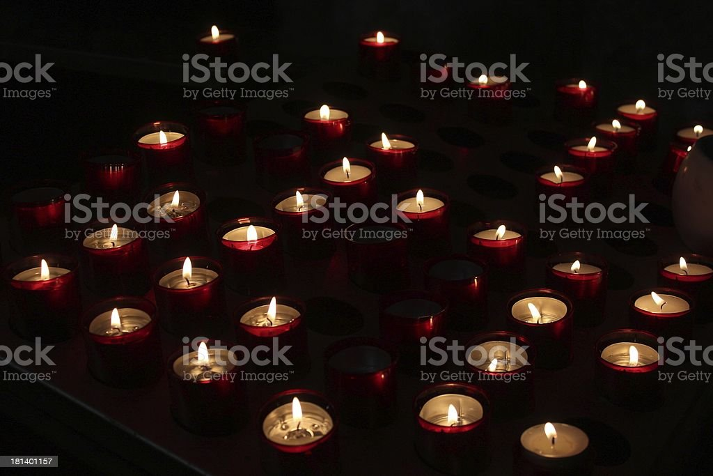 Candles in the kirche stock photo
