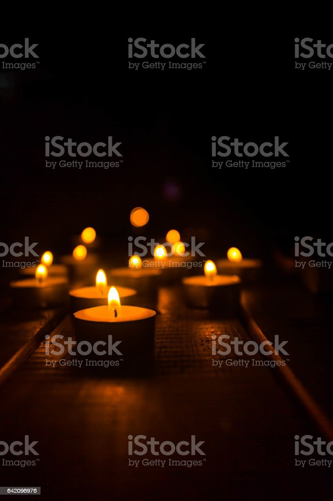 Candles light stock photo