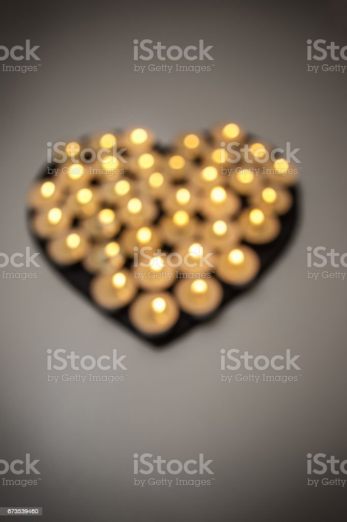candles love heart royalty-free stock photo