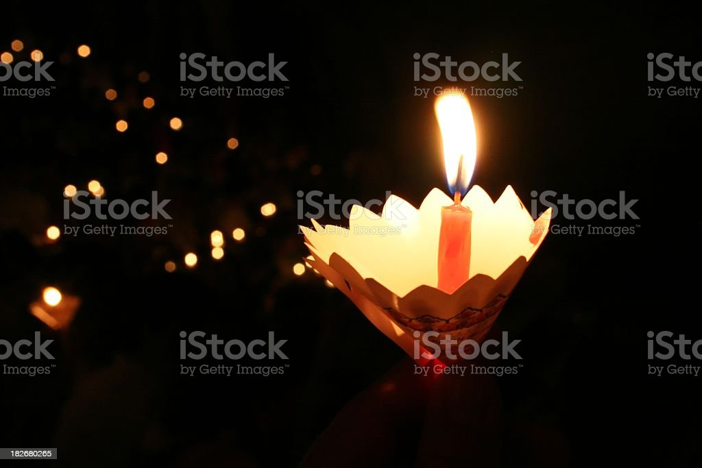 Candles march stock photo