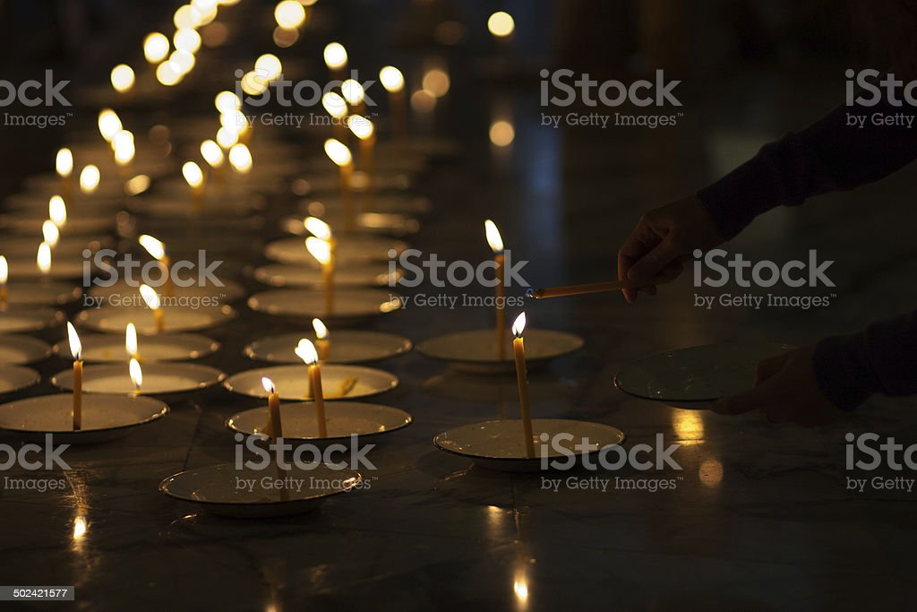 Candles of faith royalty-free stock photo
