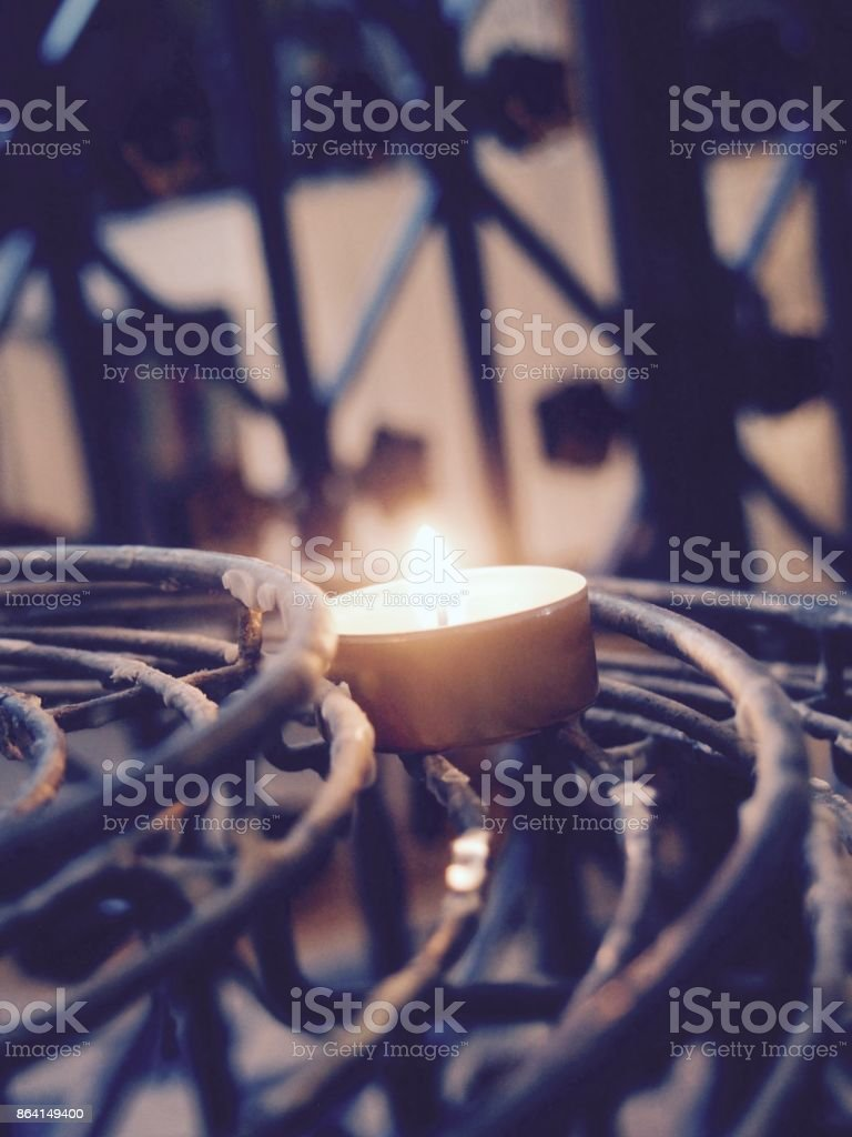 Candles of the Notre Dame Paris royalty-free stock photo