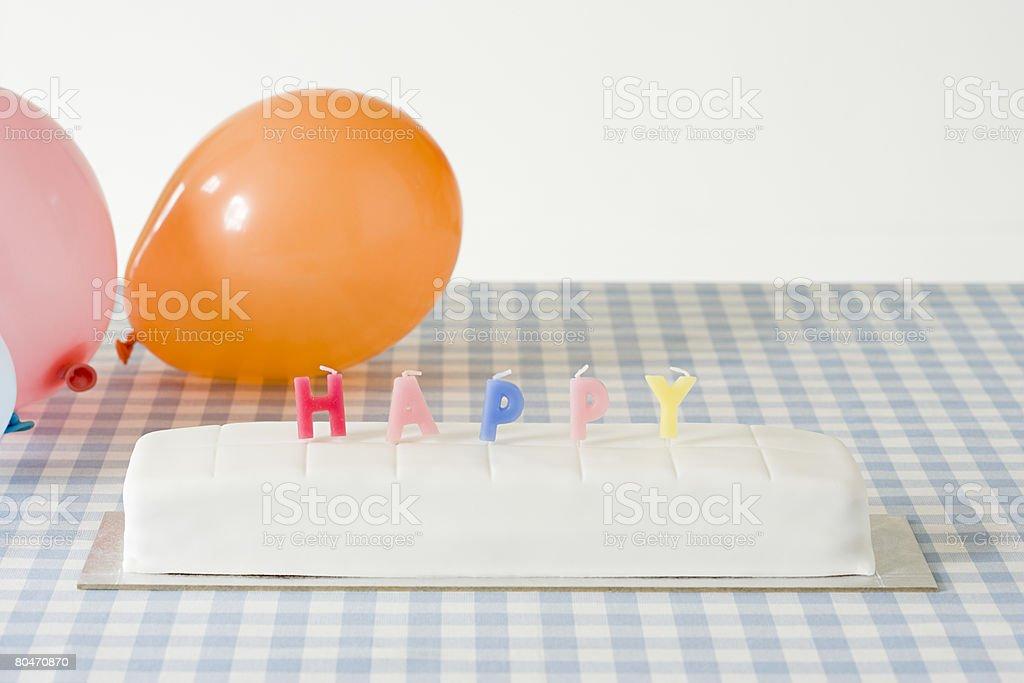 Candles on a birthday cake 免版稅 stock photo