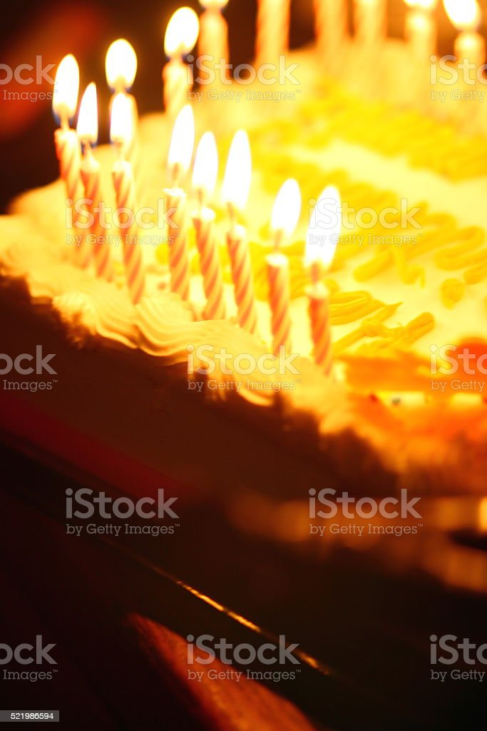 Candles on a Cake stock photo