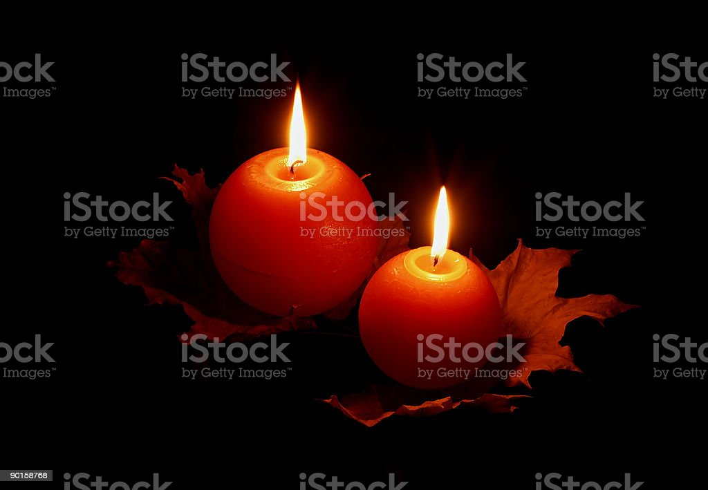 Candles on black stock photo