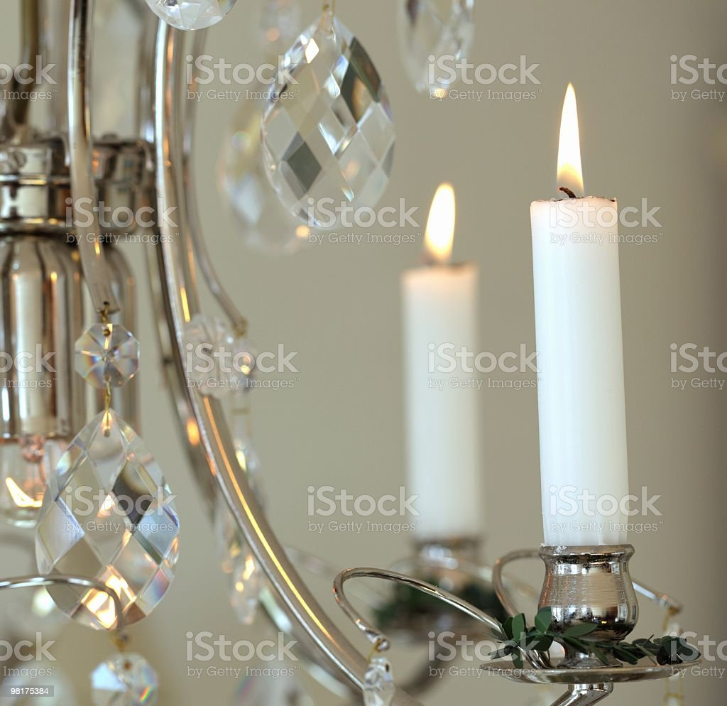 Candles on Chandelier royalty-free stock photo