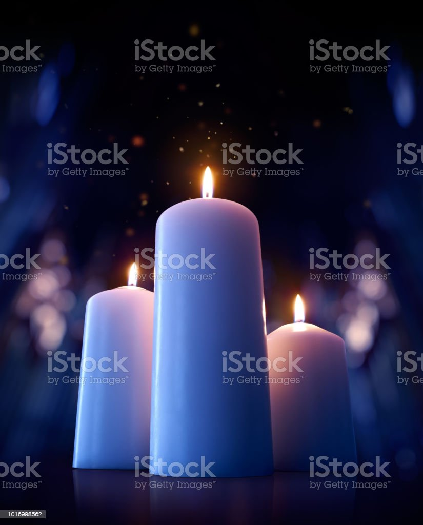 Candles on the floor of a cathedral - Royalty-free Backgrounds Stock Photo
