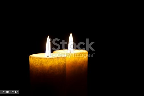Two Candles Burning in the Dark