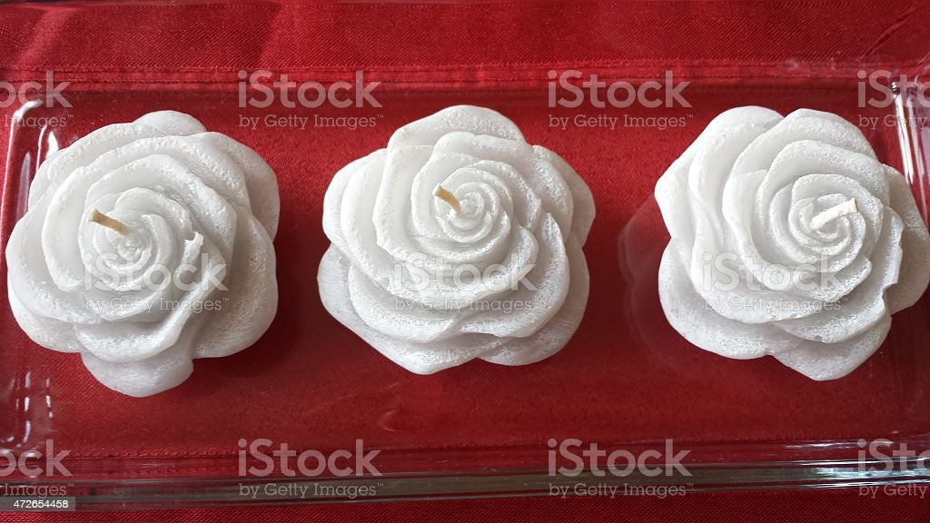 Candles roses stock photo