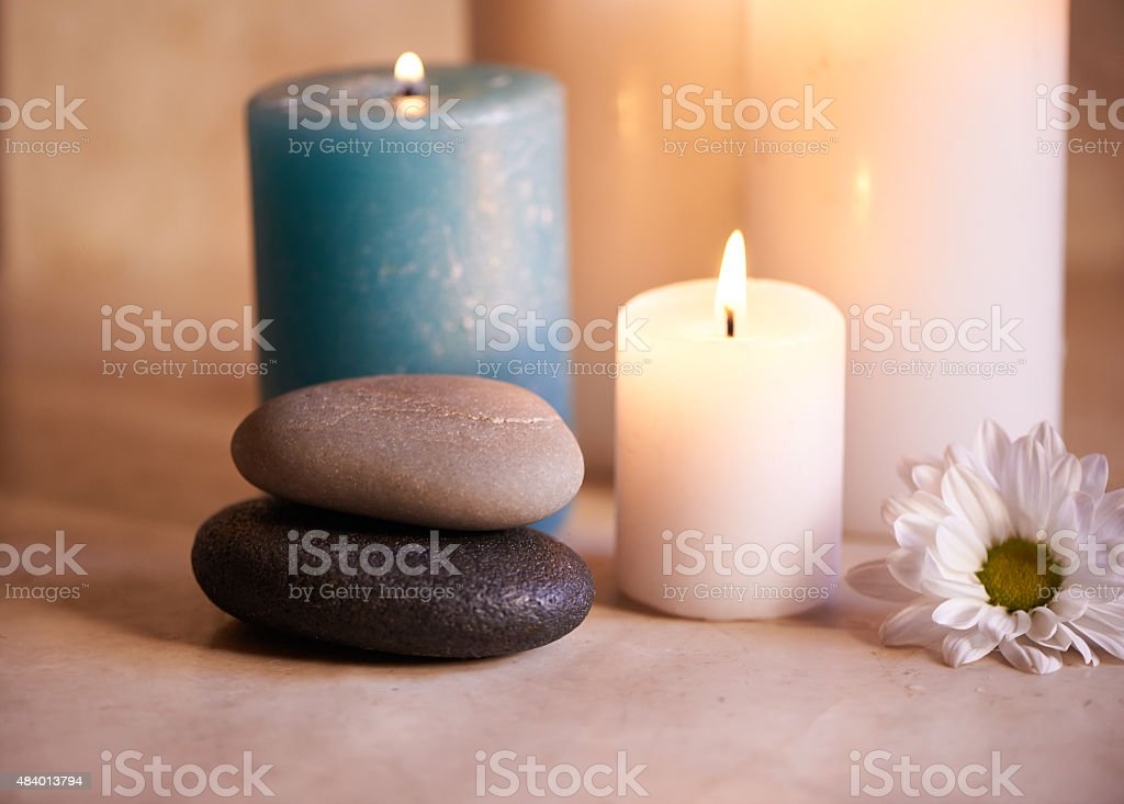 Candles to keep you calm stock photo