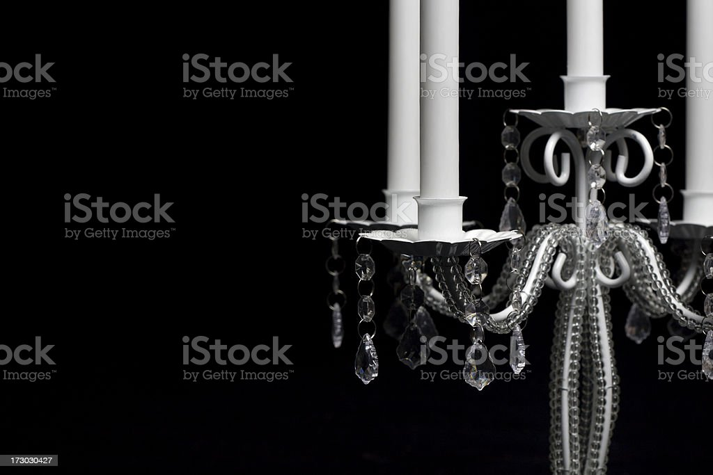 Candlestick details stock photo
