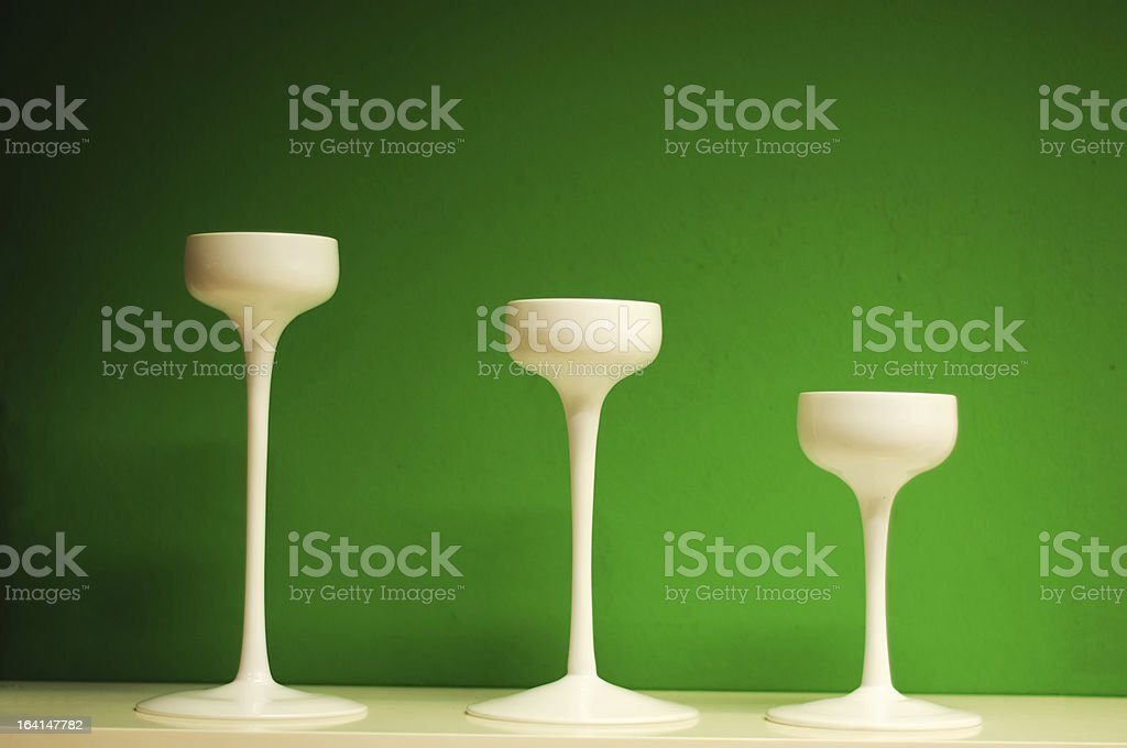 Candlestick in a row royalty-free stock photo