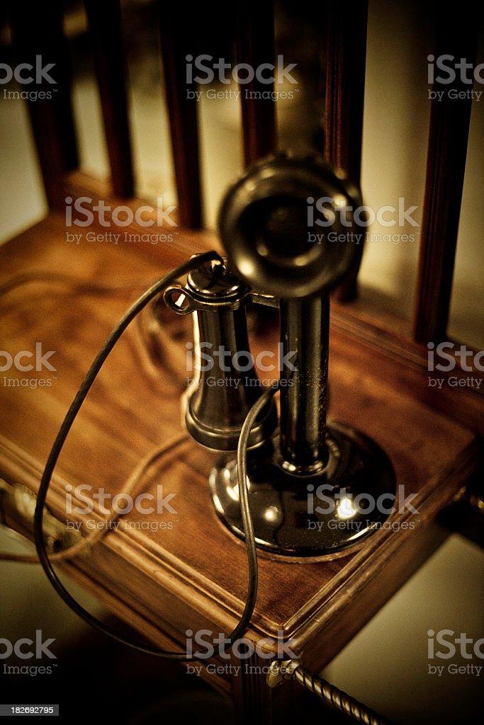 Candlestick Retro Style Phone stock photo