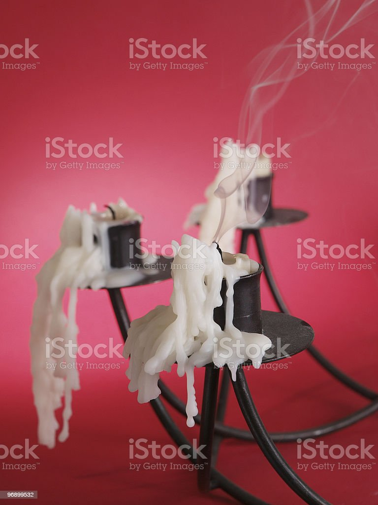 Candlestick with smoke royalty-free stock photo