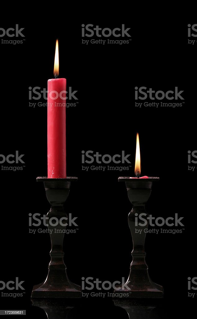 candlesticks royalty-free stock photo