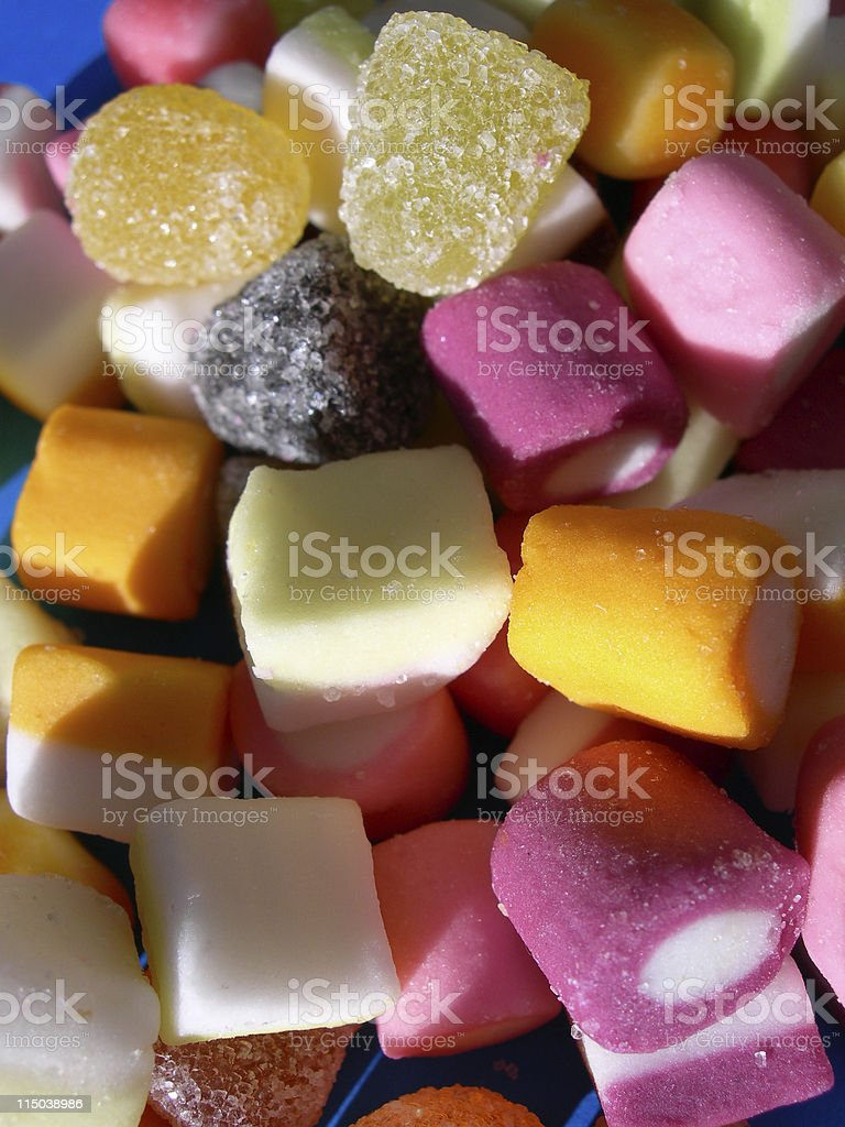 Candy allsorts stock photo