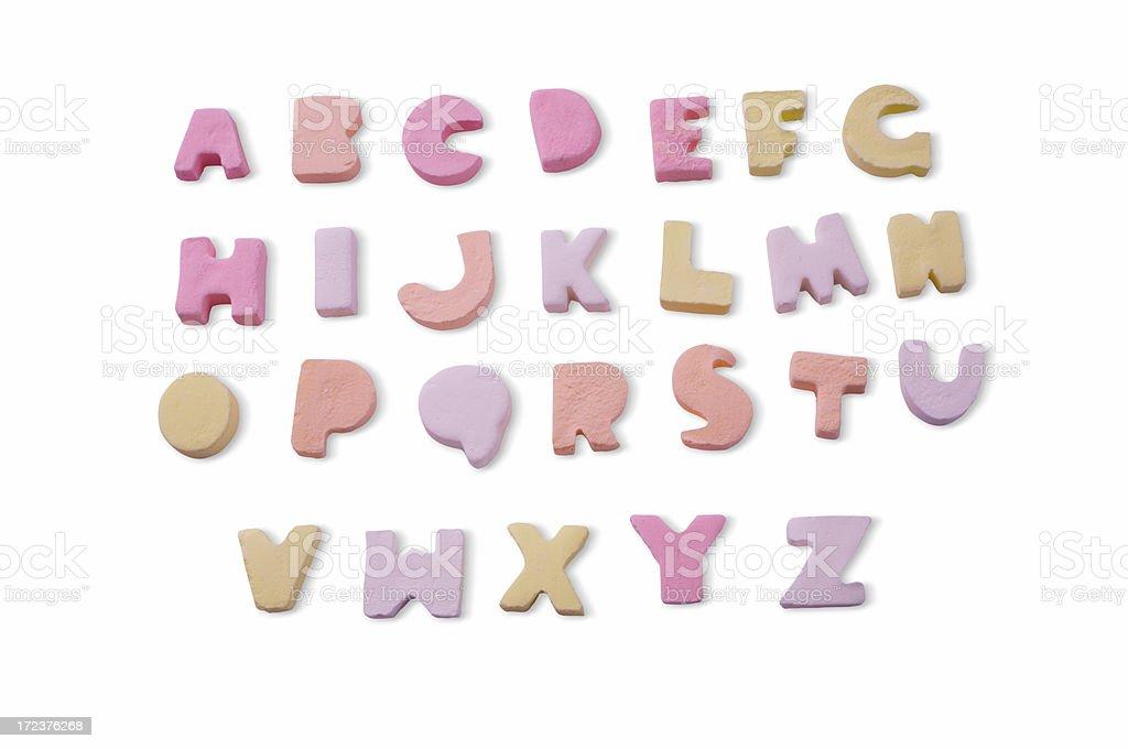 Candy alphabet stock photo