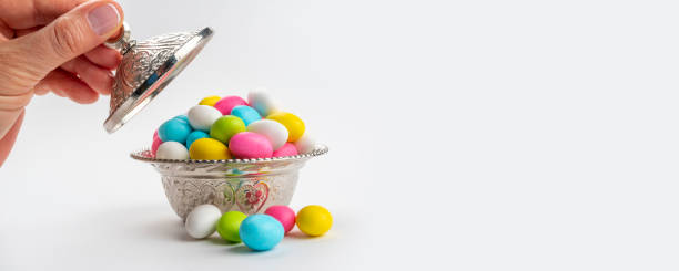 Candy and sweets for bairam (bayram). stock photo