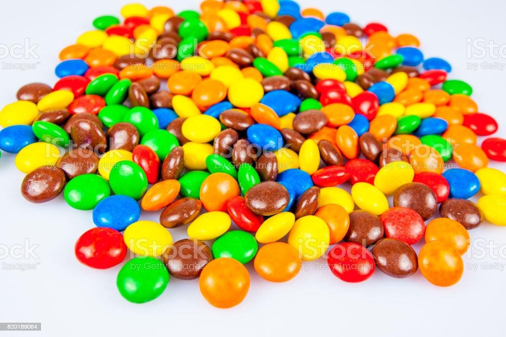 Candy background. Multi colored candy stock photo