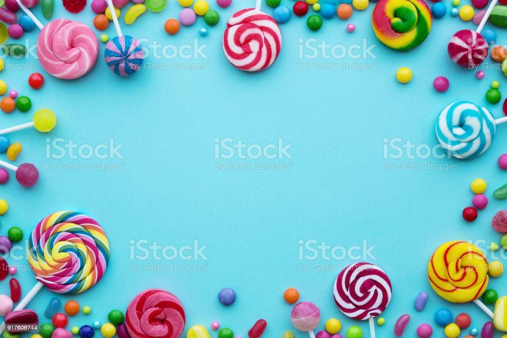 糖果背景 - 免版稅俯視圖庫照片