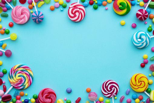 糖果背景 照片檔及更多 俯視 照片