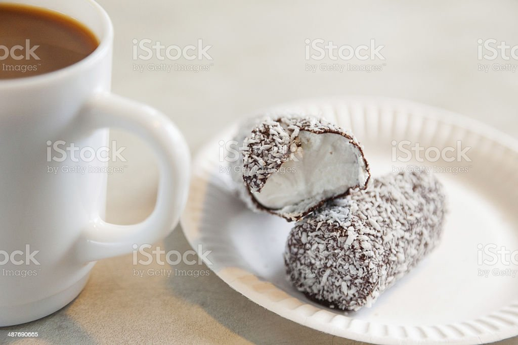 Candy bar and coffee royalty-free stock photo