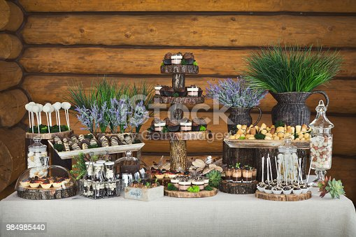 992836992 istock photo Candy bar for birthday party or wedding 984985440
