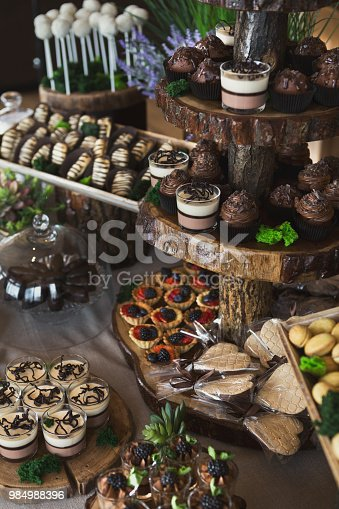 992836992 istock photo Candy bar for birthday party or wedding 984988396