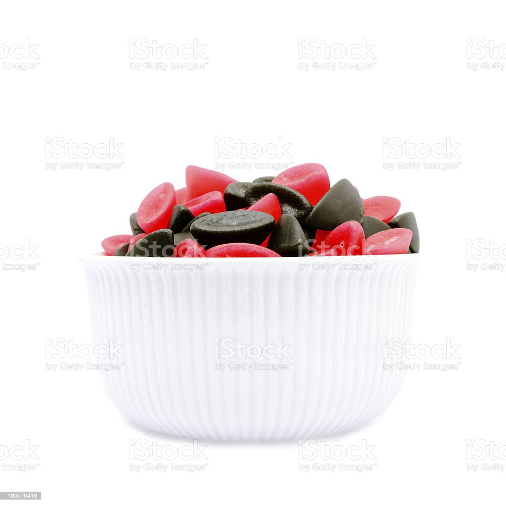 Candy Bowl with boats royalty-free stock photo