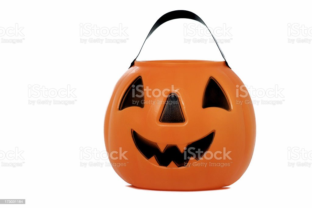 Candy Bucket for Halloween stock photo