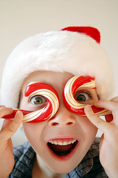 Candy Cane Boy stock photo