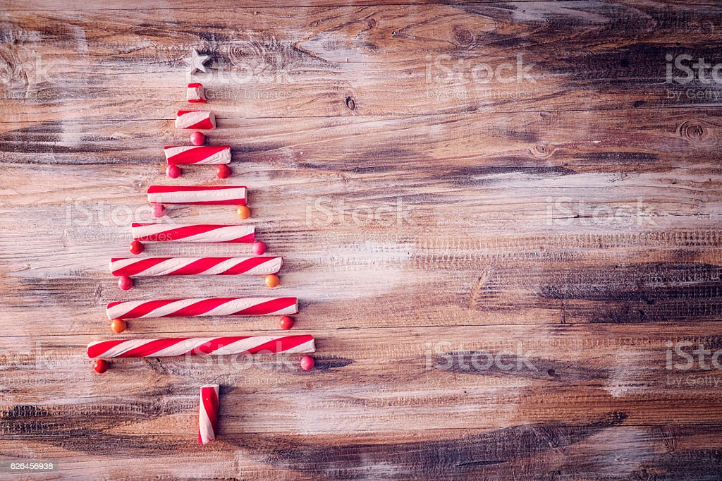 Candy Cane Christmas Tree Decoration stock photo