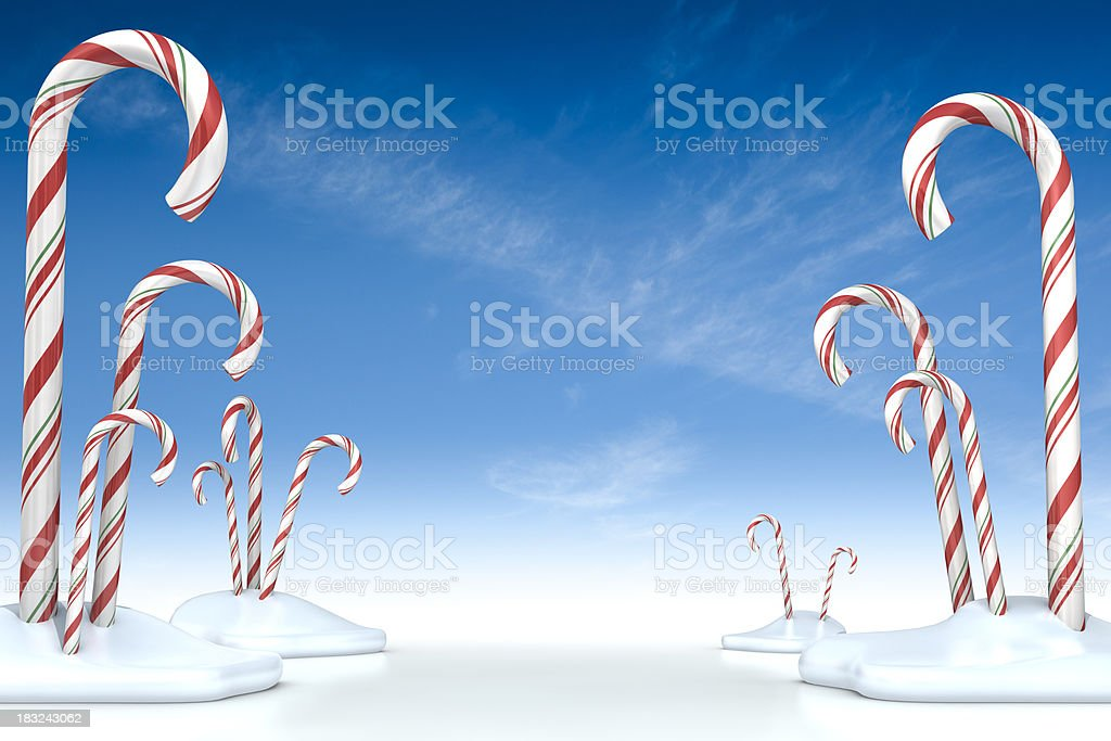 Candy Cane Forest Horizontal royalty-free stock photo