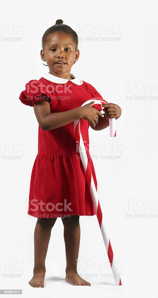 Candy Cane Girl I royalty-free stock photo