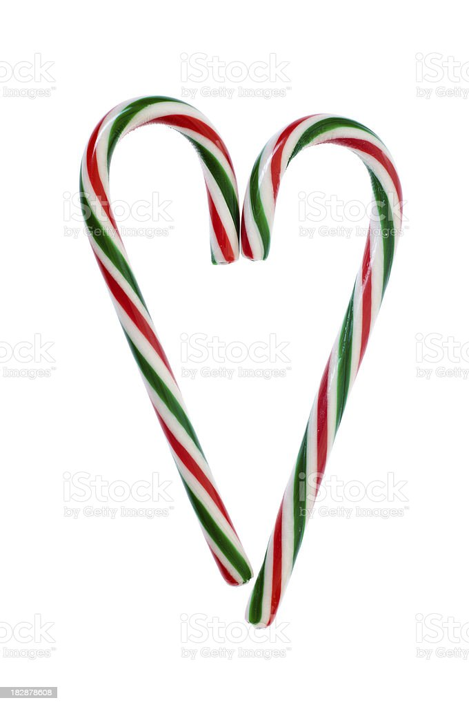 Candy Cane Heart royalty-free stock photo