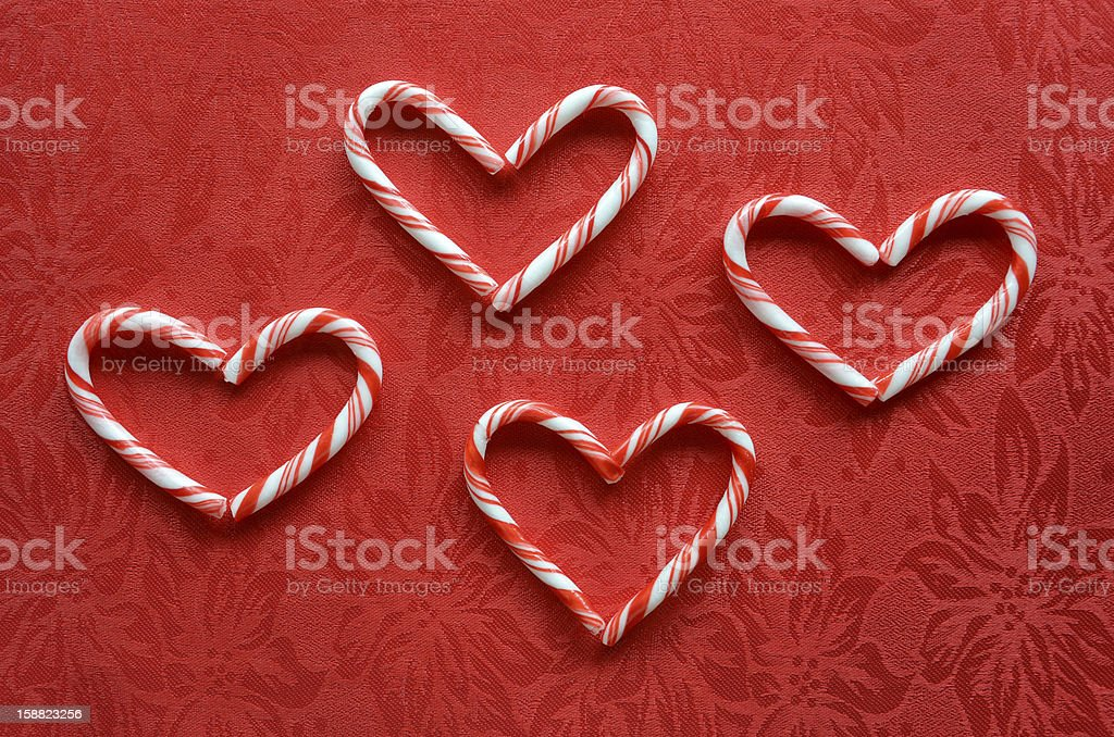 Candy cane hearts royalty-free stock photo
