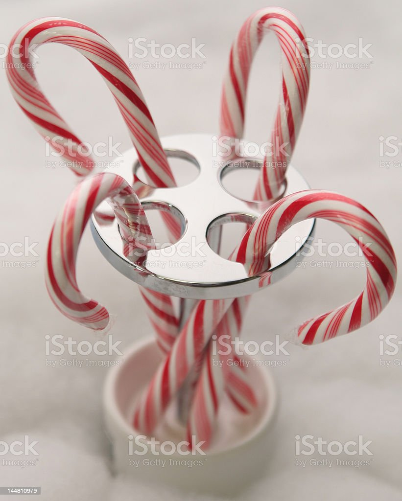 Candy cane holder royalty-free stock photo