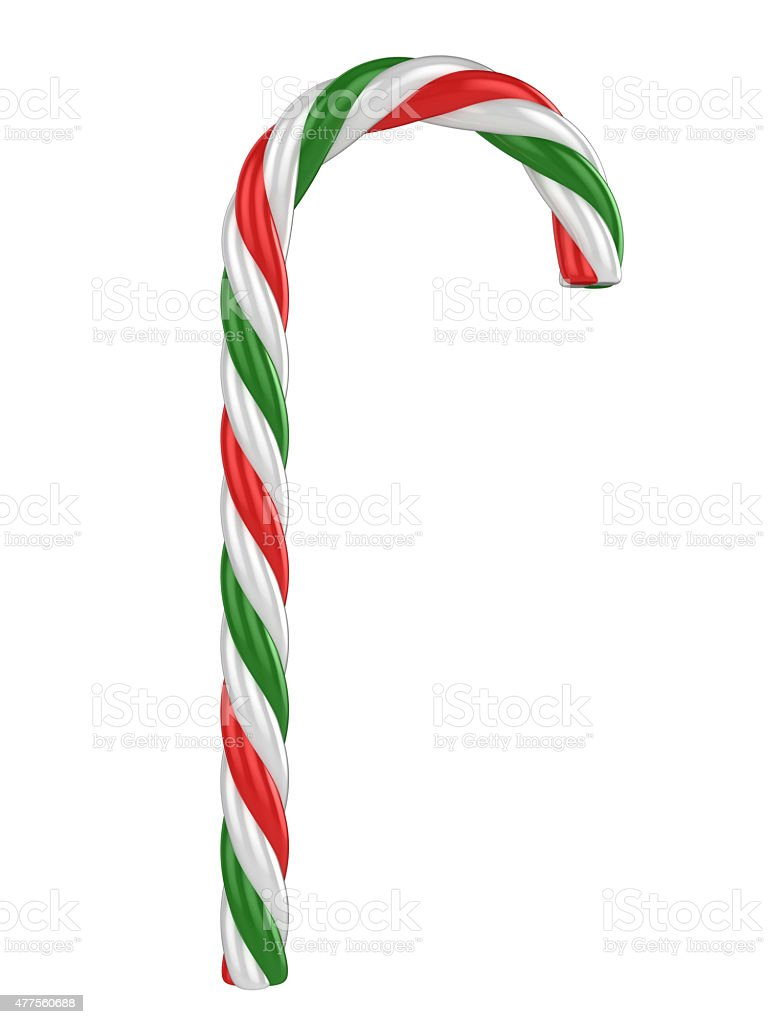 candy cane isolated on a white background stock photo