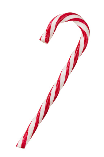 Candy Cane Isolated On White Stock Photo - Download Image ...