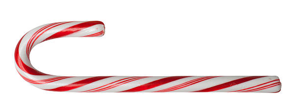 candy cane isolated with clipping path candy cane isolated on white with clipping path candy cane stock pictures, royalty-free photos & images