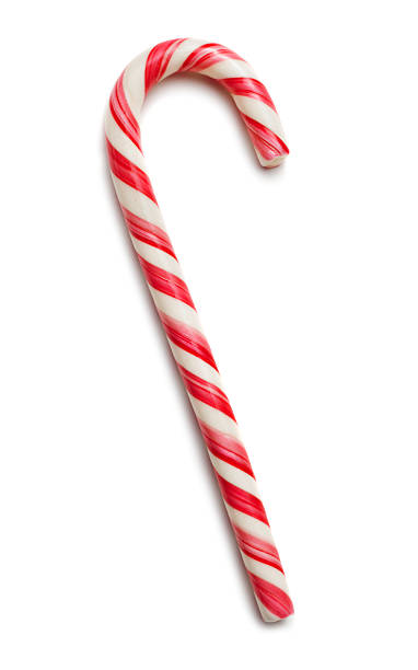 Candy Cane Candy cane on white with soft shadow candy cane stock pictures, royalty-free photos & images