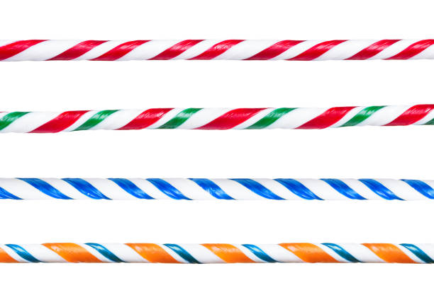 Candy canes border sticks Candy cane. Set of different striped twisted handmade candy canes border sticks. candy cane stock pictures, royalty-free photos & images