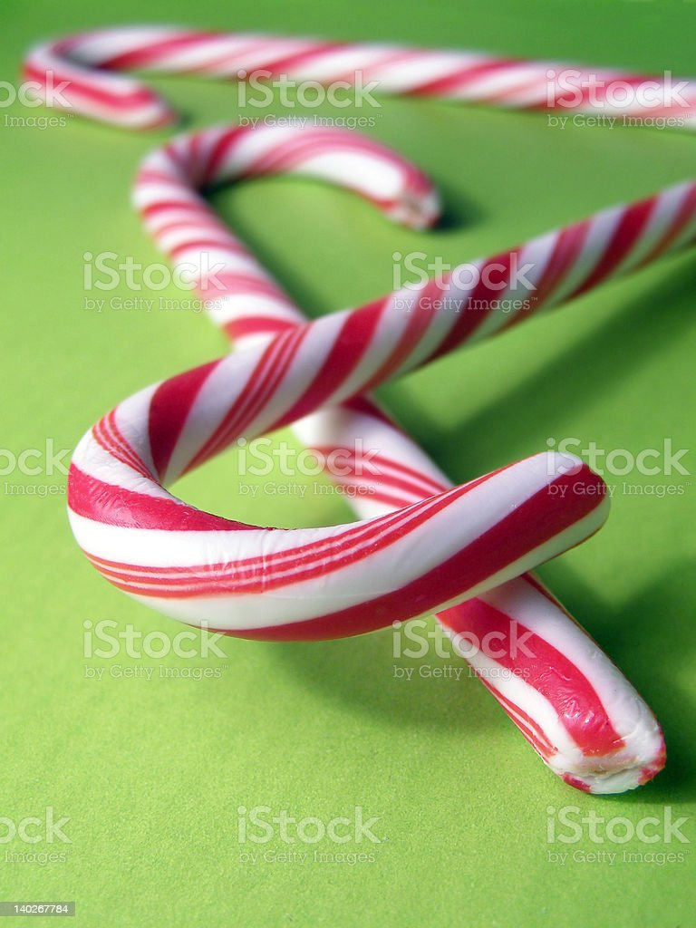 Candy Canes royalty-free stock photo