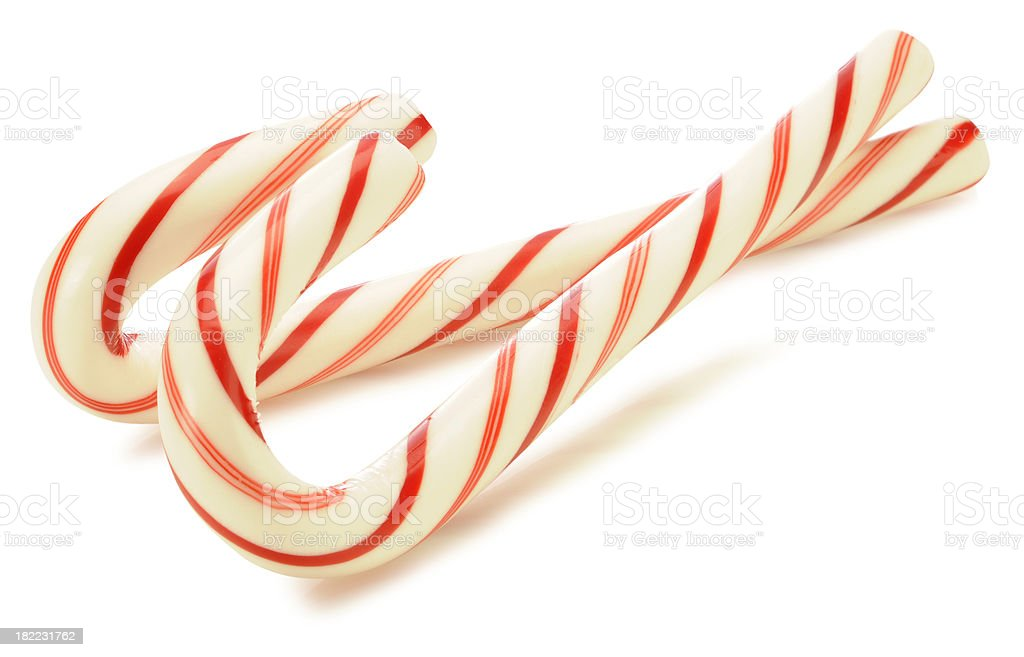 Candy Canes with Path royalty-free stock photo