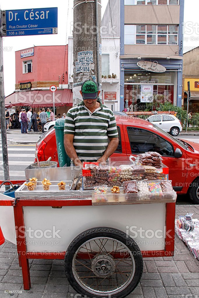 candy cart stock photo