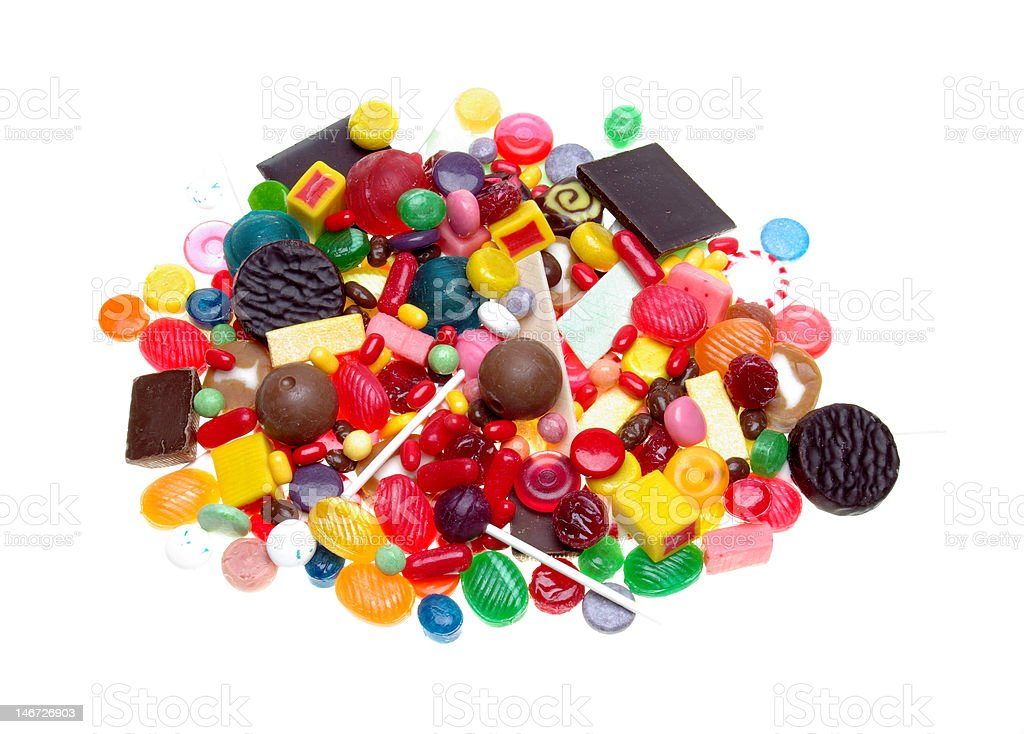 Candy, chocolate and gum royalty-free stock photo