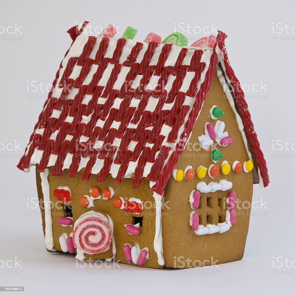 Candy Coated Gingerbread House royalty-free stock photo
