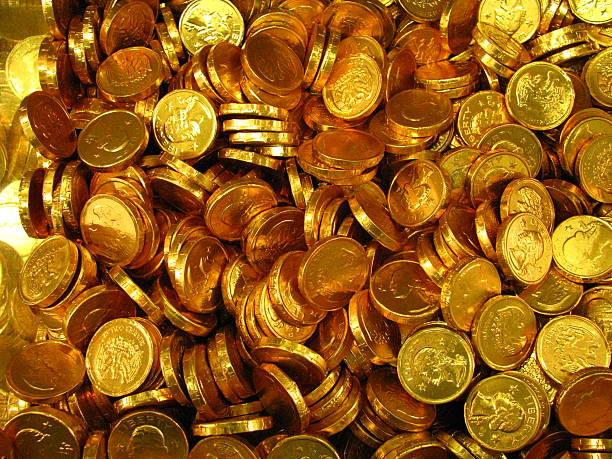 Candy Coins stock photo