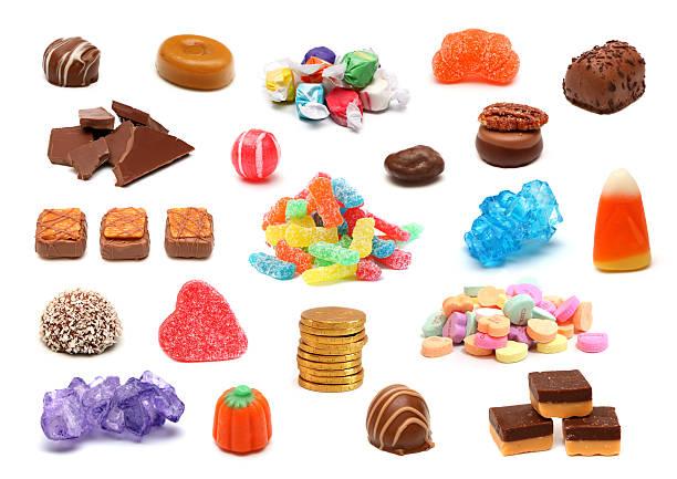 collage de caramelo - ácido fotografías e imágenes de stock