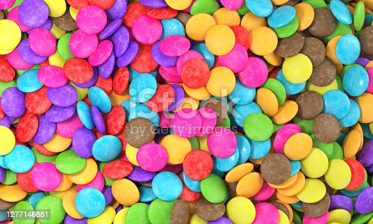 candy, background, candies, chocolate, 3d rendering
